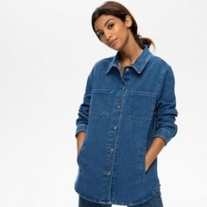 Surchemise en jean femme jean moyen - promod