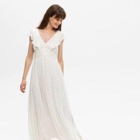Longue robe effet plumetis ecru - promod