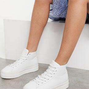 Selected femme - baskets montantes - blanc