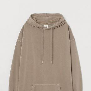 H & m - robe à capuche en molleton - chocolat