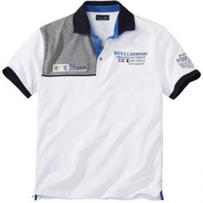 Polo blanc homme ocean sail atlas for men