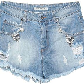 Short en jean paolo casalini femme. bleu. m...