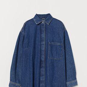 H & m - robe en jean oversize - bleu