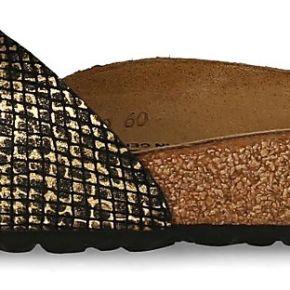 Birkenstock femme sandales madrid noires et or