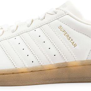Adidas femme superstar blanche et beige gum...