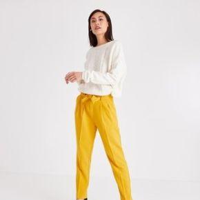 Pantalon taille haute femme ocre - promod