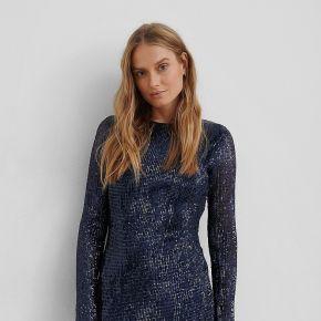 Na-kd party sequin round neck mini dress - blue