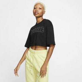Tee-shirt court nike air pour femme - noir