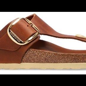 Birkenstock, 'gizeh big buckle' slides brun,...