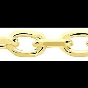Chaîne igoa maille forçat diamantee or jaune