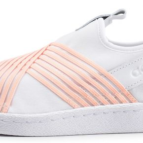Adidas superstar slip-on blanc et orange femme...
