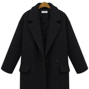 Caban femme mode casual noir zx-nz3060