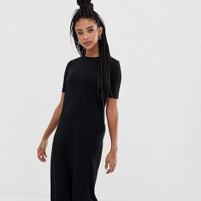 Femme weekday - robe droite mi-longue - noir