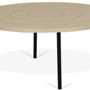 Table basse ronde motifs géométriques chêne...