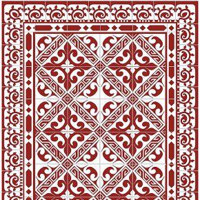 Floorart--tapis vinyle greca rouge - 100x133...