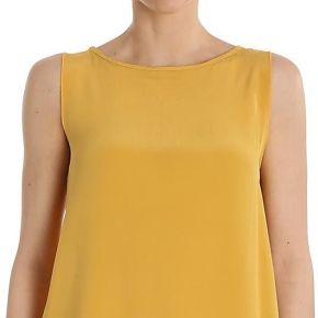 Ottod'ame femme ginet86341504o jaune soie top