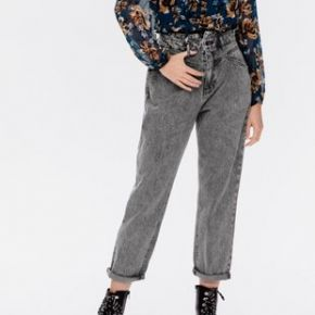 Jean mom taille haute marcel jeans gris - promod