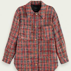 Scotch & soda veste-chemise en tweed et mélange...