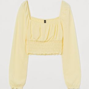 H & m - crop top - jaune