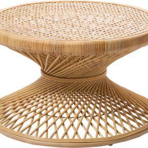 Ushuaia - table basse vintage en rotin l ø80 -...