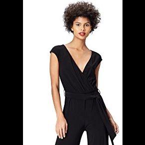 Find. wrap front combinaison femme, noir...