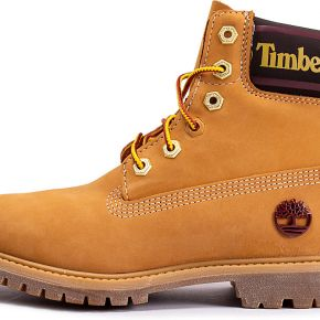 Boots timberland 6-inch logo collar beige femme