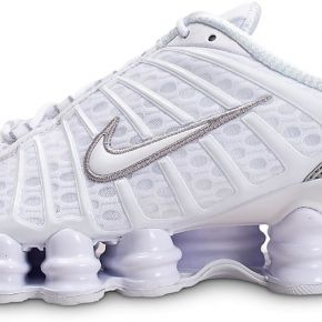 Nike homme shox tl blanc argent running