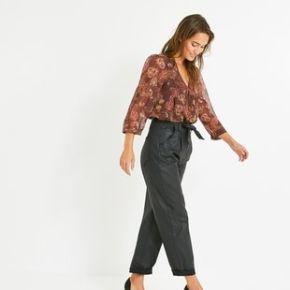 Pantalon enduit oversize oscar noir - promod