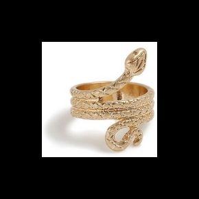 Bague serpent dorée