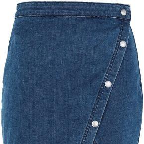Notched denim mini jupe en jean free people...