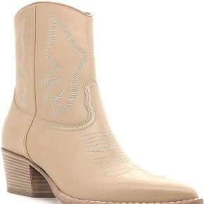 Valentino garavani bottines texan cuir beige...