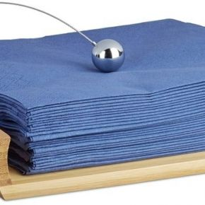 Porte-serviettes de table en bambou - or -...