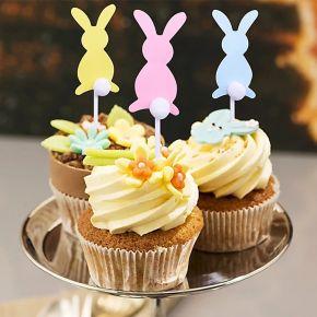 5 pièces décoration de gâteau en forme de lapin