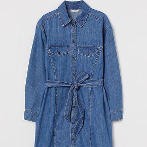 H & m - robe chemise en denim - bleu