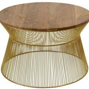 Cotecosy - table basse hawai en bois et pieds...