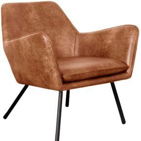 Bon - fauteuil lounge vintage - couleur - marron