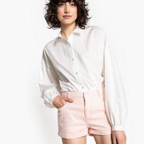 Chemise loose, manches longues bouffantes blanc