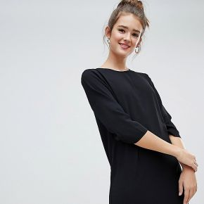Femme only - robe droite coupe courte - noir -...